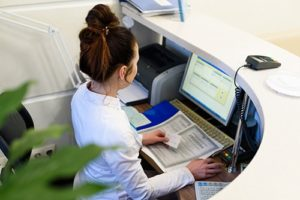 woman doing administrative support services